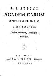 B. S.Albini Academicarum annotationum ; Liber secundus