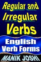 Regular and Irregular Verbs  English Verb Forms PDF