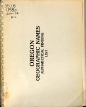 Oregon Geographic Names Alphabetical Finding List PDF