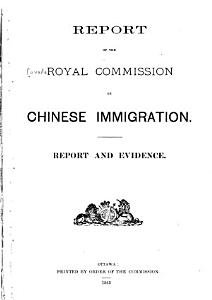 Report of the Royal Commission on Chinese Immigration PDF