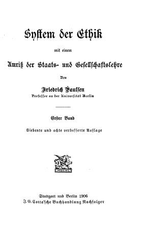 System der ethik PDF