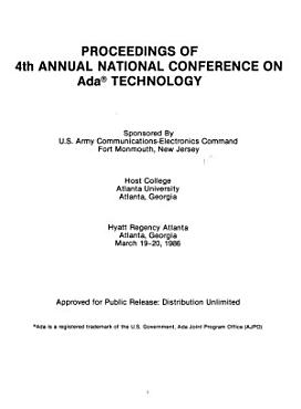 Proceedings of 4th Annual National Conference on Ada Technology PDF