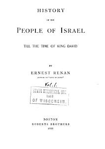 History of the People of Israel  Till the time of King David  1888 PDF