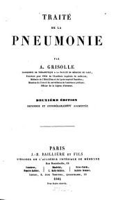 Traité de la pneumonie