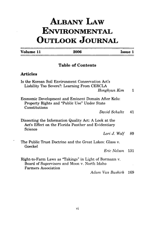 Albany Law Environmental Outlook Journal PDF