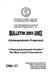 Chiang Mai University - Bulletin