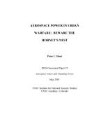 Aerospace power in urban warfare beware the hornet s nest PDF