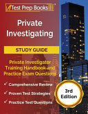 Private Investigating Study Guide