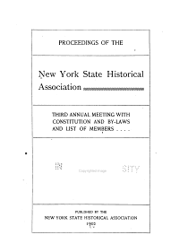 Constitution and By laws  New York State Historical Association  with Proceedings of the     Annual Meeting PDF