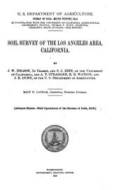 Soil Survey of the Los Angeles Area, California