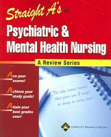 Straight A s in Psychiatric and Mental Health Nursing PDF