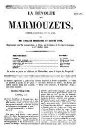 La révolte des Marmouzets: comédie-vaudeville en un acte