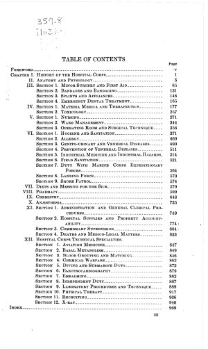 Handbook of the Hospital Corps  United States Navy  1939