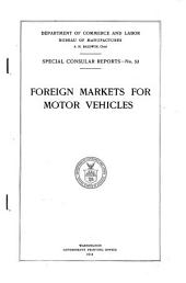 Foreign Markets for Motor Vehicles