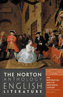 The Norton anthology English literature    complete in 2 volumes   1   C  The restoration and the eighteenth century