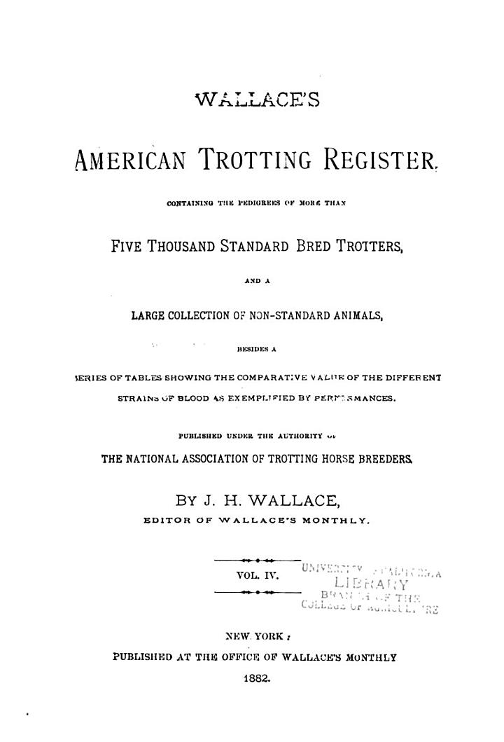 Wallace's American Trotting Register ...