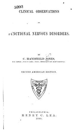 Clinical Observations on Functional Nervous Disorders PDF