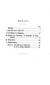 Der Entwurf einer Verordnung u ̈ber die Verha ̈ltnisse der Juden in Preußen und das Edikt vom 11. Ma ̈rz 1812