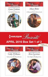 Harlequin Presents April 2016 - Box Set 1 of 2: The Sicilian's Stolen Son\Seduced into Her Boss's Service\A Diamond Deal with the Greek\One Night to Wedding Vows