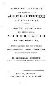 Logos protreptikos eis philosophian