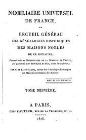 Nobiliare universel de France, ou recueil général des généalogies historiques des maisons nobles de ce royaume