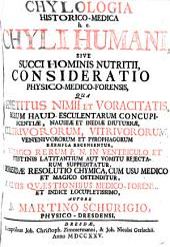 Chylologia historico-medica