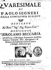 Quaresimale di Paolo Segneri della Compagnia di Giesu'