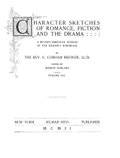 Character Sketches of Romance, Fiction and the Drama: Volume 8