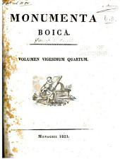 Monumenta boica: Volume 24