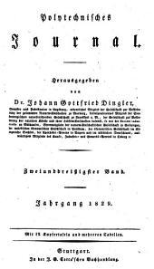 Polytechnisches Journal: Band 32