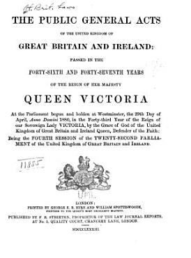 The Public General Acts of the United Kingdom of Great Britain and Ireland PDF