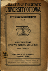 Present Attainment in Handwriting of School Children in Iowa