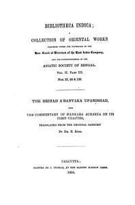 The Brihad Aranyaka Upanishad Book