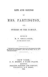 Life and Sayings of Mrs. Partington and Others of the Family