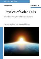 Physics of Solar Cells PDF