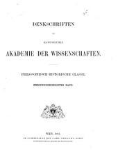 Denkschriften der Kaiserlichen Akademie der Wissenschaften, Philosophisch-Historische Classe