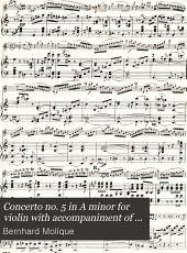Concerto no. 5 in A minor for violin with accompaniment of orchestra, op. 21