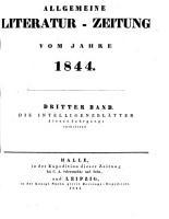 ALLGEMEINE LITERATUR ZEITUNG VOM JAHRE 1844 PDF