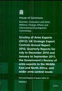 Scrutiny of arms export controls (2012)