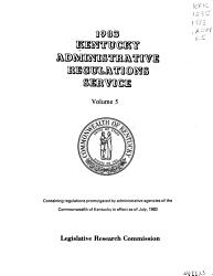 Kentucky Administrative Regulations Service PDF