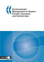 Environmental Management in Eastern Europe  Caucasus and Central Asia PDF