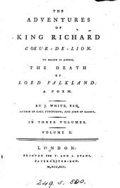 The adventures of king Richard Coeur-de-Lion: Volume 2