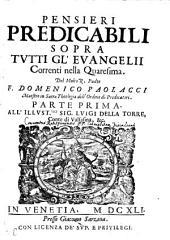 Pensieri Predicabili Sopra Tutti Gl'Evangelii Correnti nella Quaresima: Volume 1