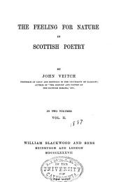 The Feeling for Nature in Scottish Poetry: Volume 2