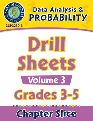 Data Analysis   Probability  Drill Sheets Vol  3 Gr  3 5