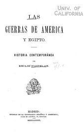 Las guerras de America y Egipto: historia contemporanea