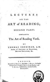 Lectures on the Art of Reading Prose and Verse: Volume 2