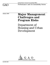 Major management challenges and program risks Department of Housing and Urban Development.