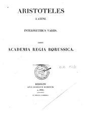 Aristotelis opera: Volume 3