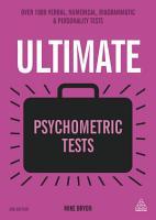Ultimate Psychometric Tests PDF